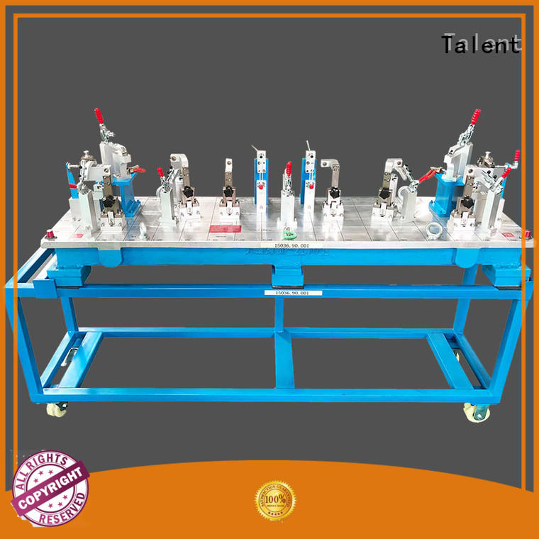 fixture clamps metal parts for inspect Talent