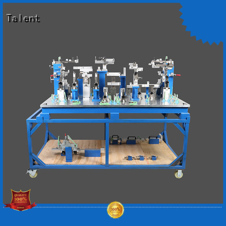 Talent cover assembly fixture factory for floor panel