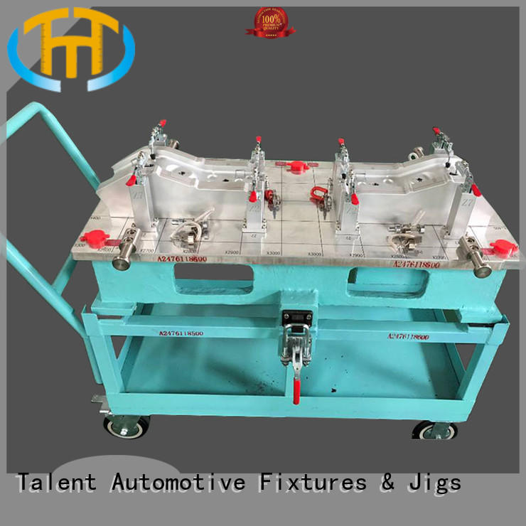 Talent Brand holding check gages floor factory