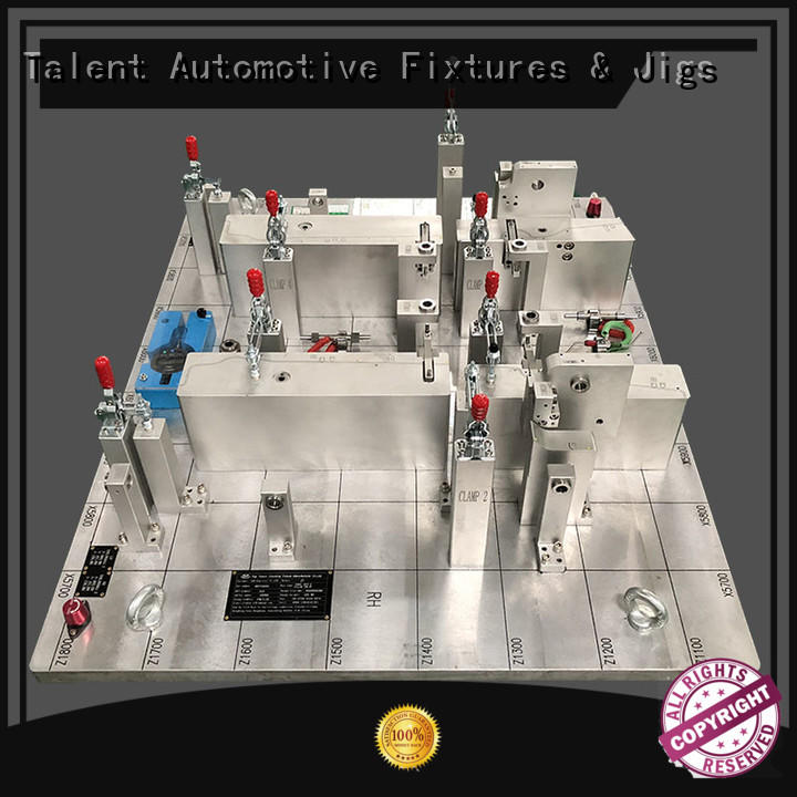 Hot inspection fixture components cover Talent Brand