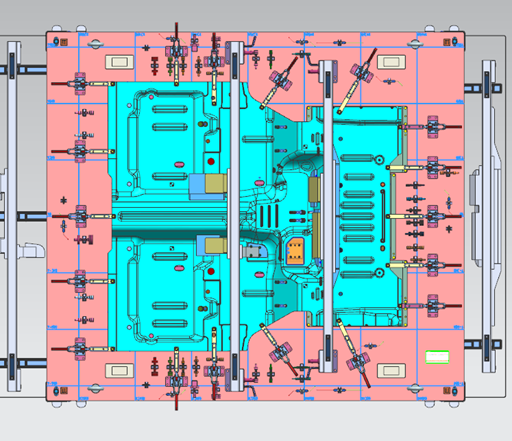 component Checking fixture for panel RR Floor pan